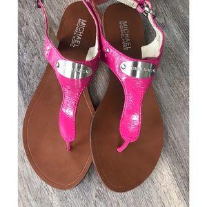 Michael Kors pink leather sandals - 8 (EUC)